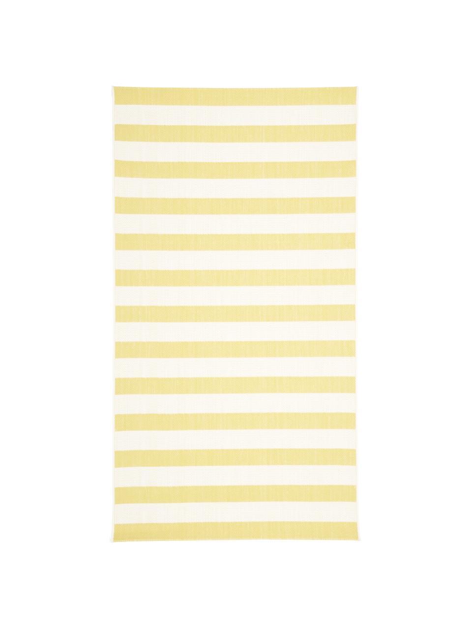 Dywan wewnętrzny/zewnętrzny Axa, Kremowobiały, żółty, S 160 x D 230 cm (Rozmiar M)