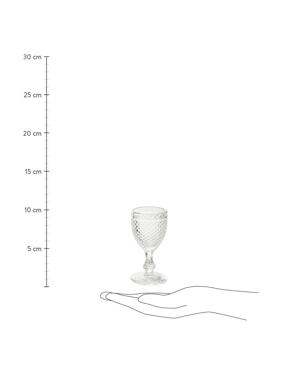 Bicchiere liquore Diamond 6 pz, Vetro, Trasparente, Ø 5 x Alt. 10 cm