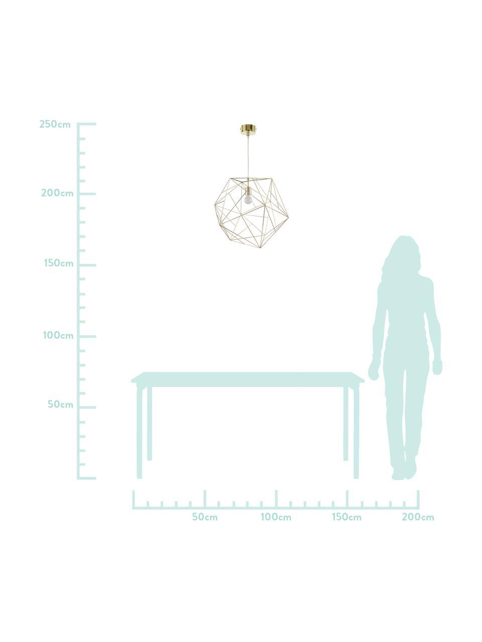 Lampada a sospensione dorata Cape Town, Paralume: acciaio inossidabile otto, Baldacchino: metallo, Ottone, Ø 51 x Alt. 45 cm