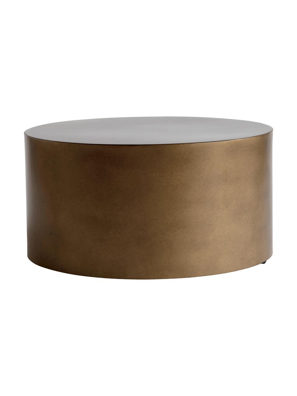 Runder Metall-Couchtisch Metdrum in Honigfarben, Metall, Honigfarben, Ø 60 x H 30 cm