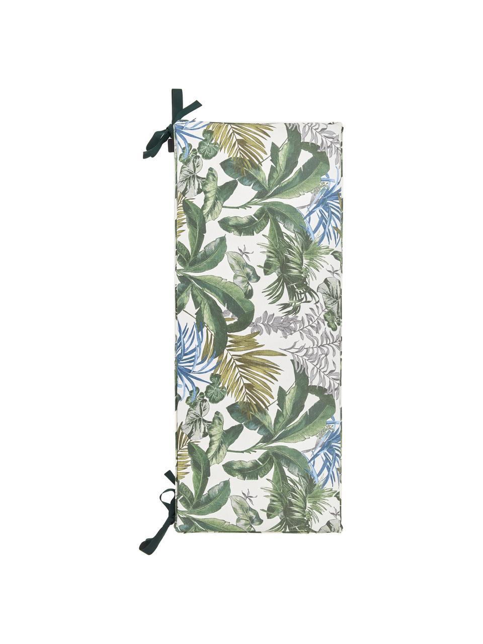 Wodoodporna poduszka na ławkę Bliss, Tapicerka: 50% bawełna, 45% polieste, Kremowy, odcienie zielonego i odcienie niebieskiego, S 48 x D 150 cm