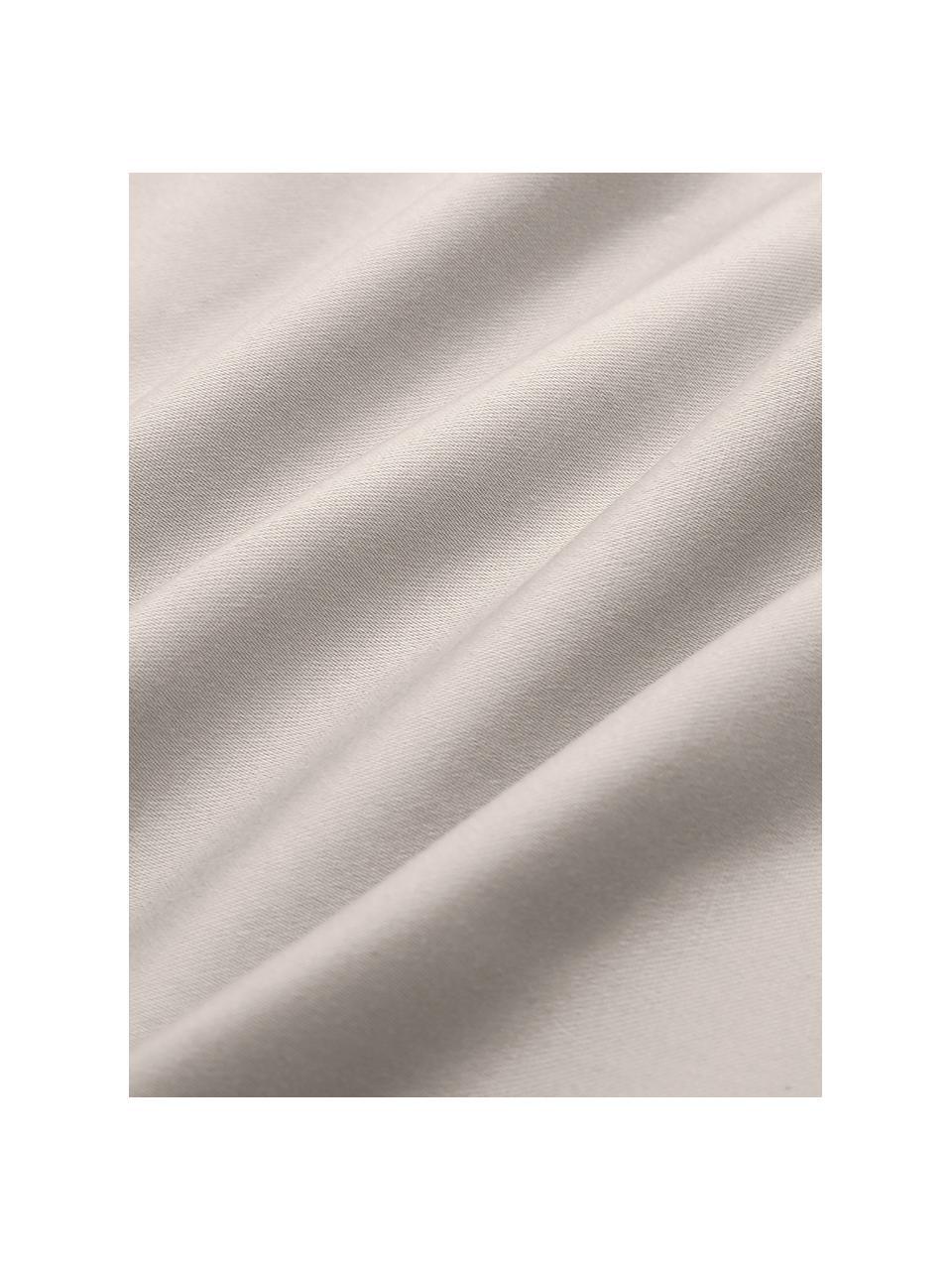 Spannbettlaken Premium aus Bio-Baumwolle in Taupe, Satin, Webart: Satin Fadendichte 400 TC,, Taupe, 180 x 200 cm