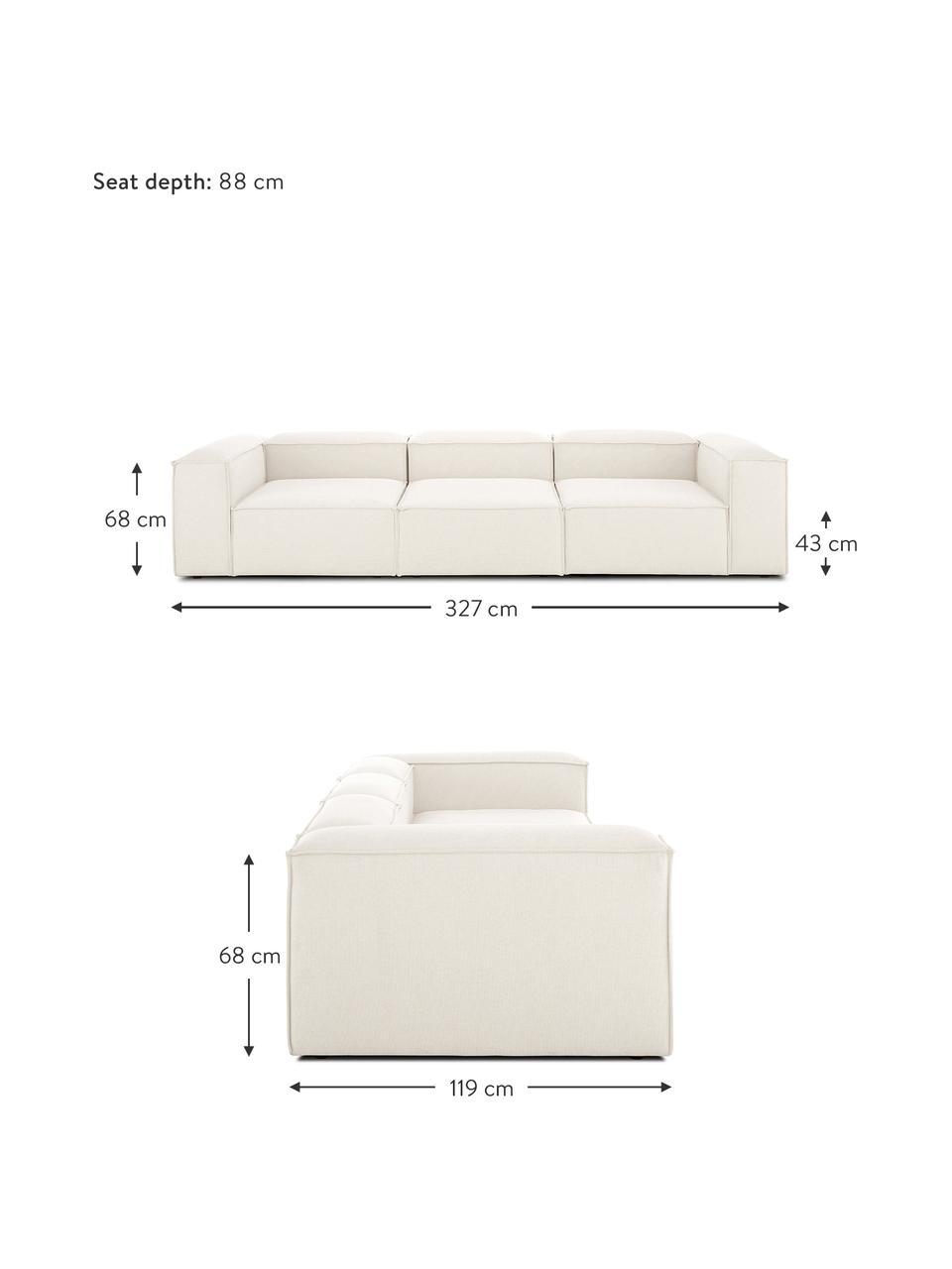 Canapé 4places modulable beige Lennon, Tissu beige