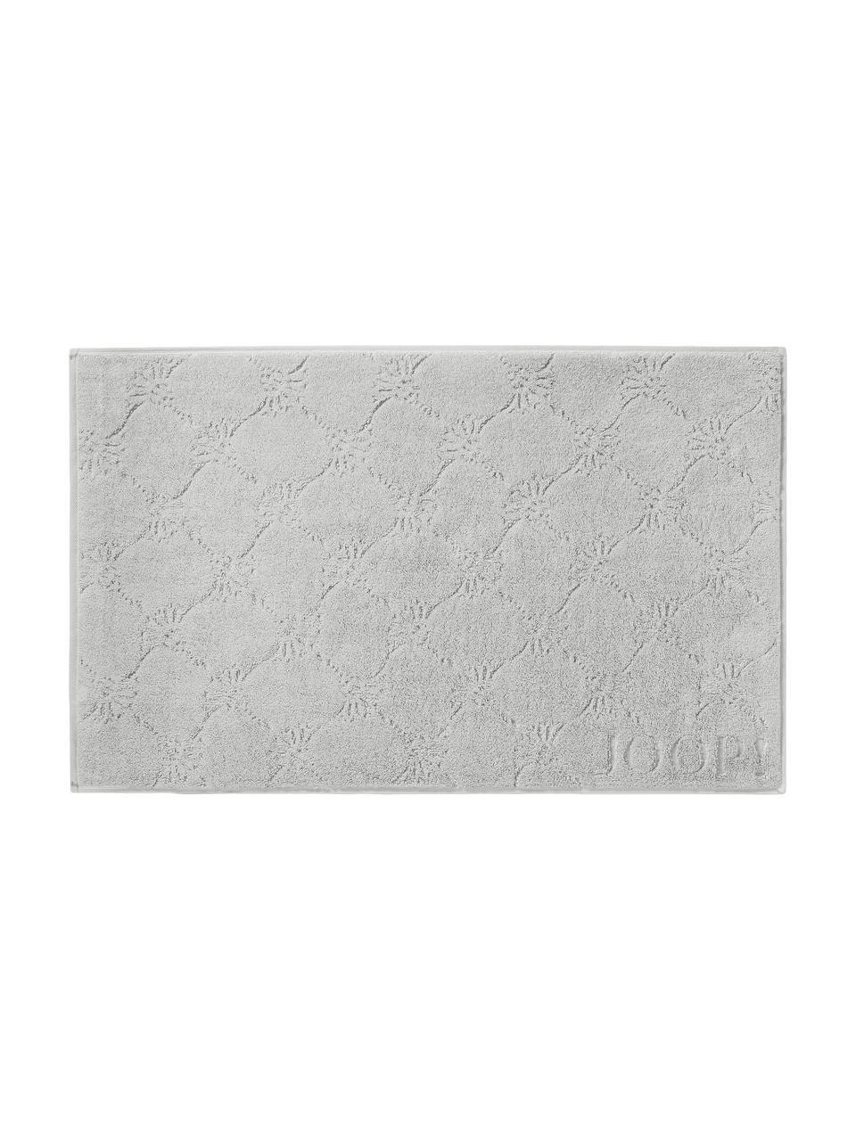 Tappeto bagno Cornflower, Grigio argento, Larg. 50 x Lung. 80 cm