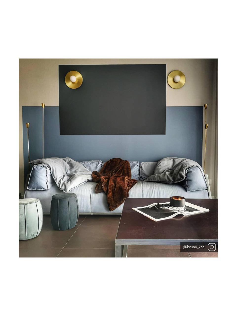 Applique murale dorée Starling, Rosace: couleur laiton, matAbat-jour: blanc