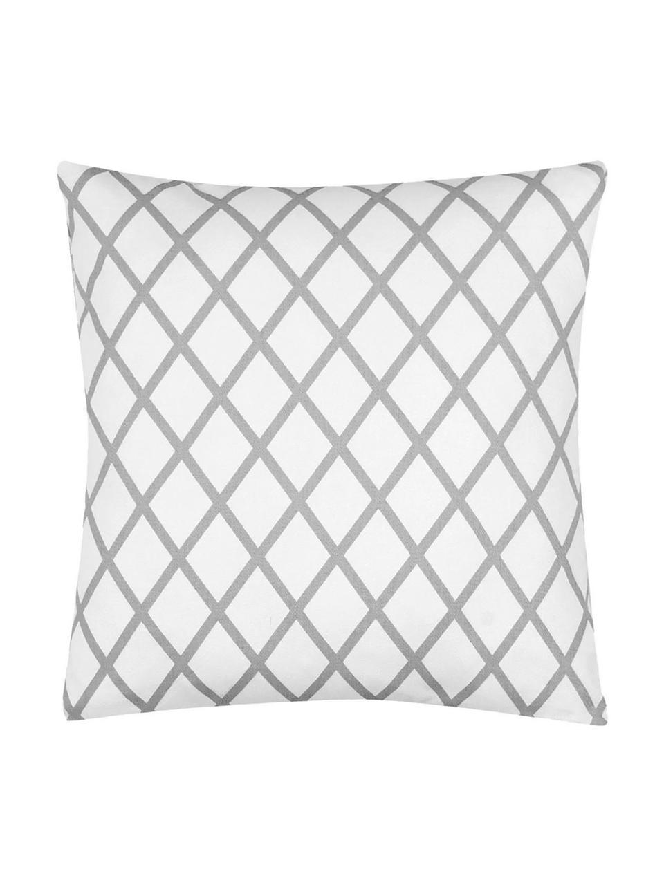 Poszewka na poduszkę Romy, 100% bawełna, splot panama, Szary, kremowy, S 40 x D 40 cm
