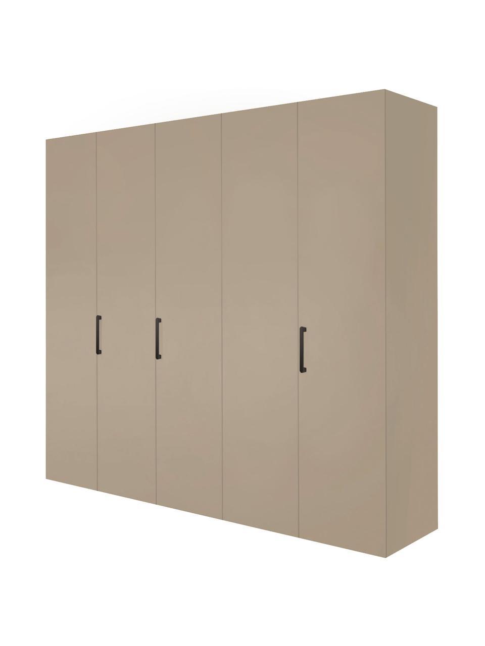 Kleiderschrank Madison 5-türig, inkl. Montageservice, Korpus: Holzwerkstoffplatten, lac, Sandfarben, Ohne Spiegeltür, 252 x 230 cm