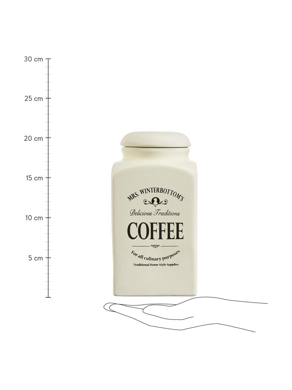 Contenitore Mrs Winterbottoms Coffee, Terracotta, Crema, nero, Larg. 11 x Alt. 21 cm