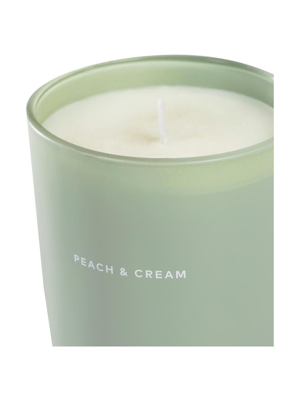 Vonná sviečka Peaches & Cream (broskyňa, marhuľa), Zelená, biela