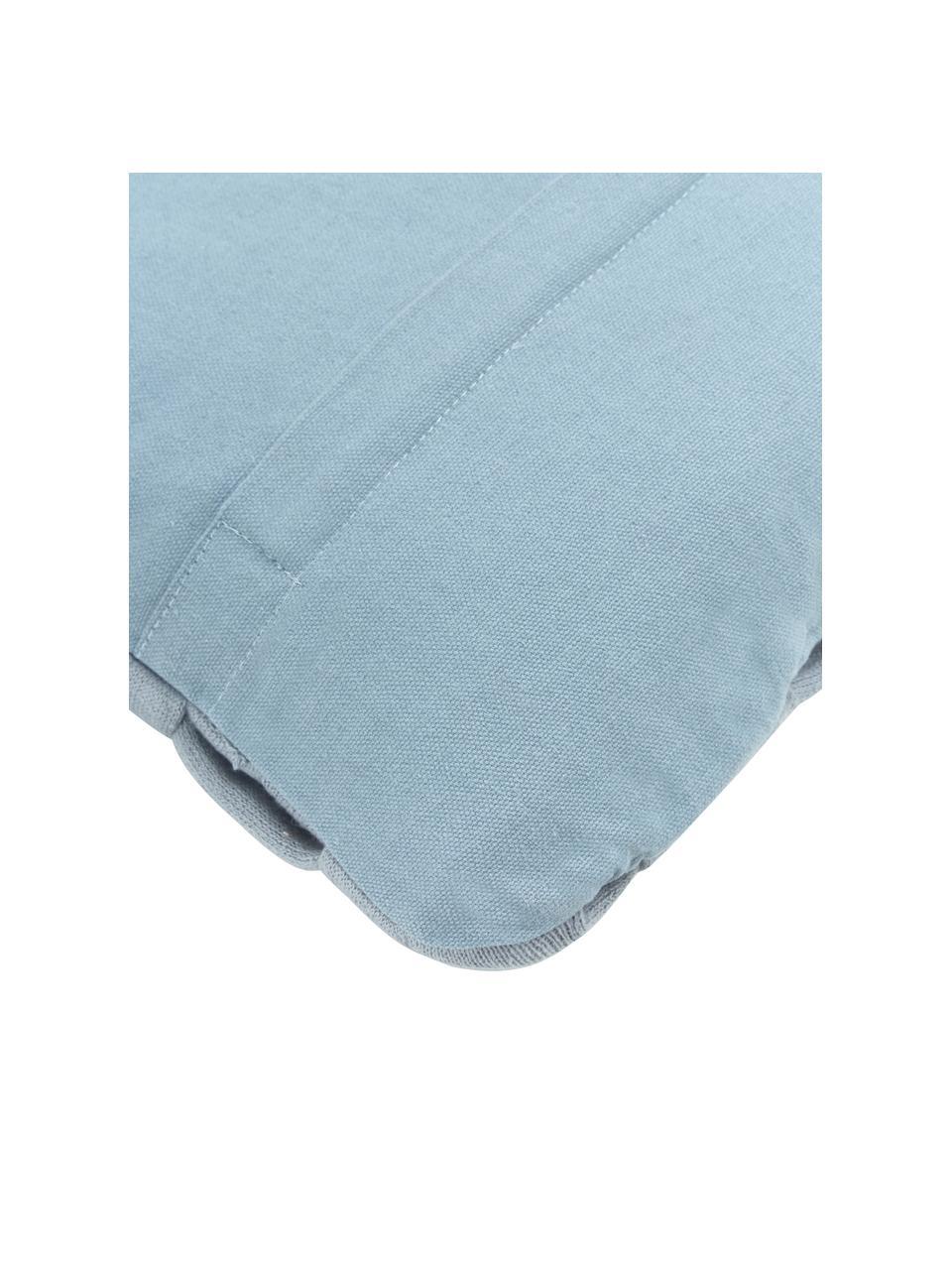 Housse de coussin rectangulaire bleu Norman, Bleu
