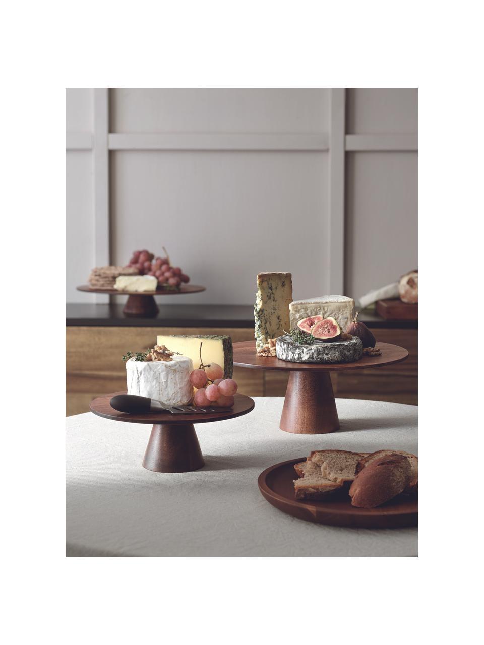 Plat à gâteau bois d'acacia Wood, Brun foncé