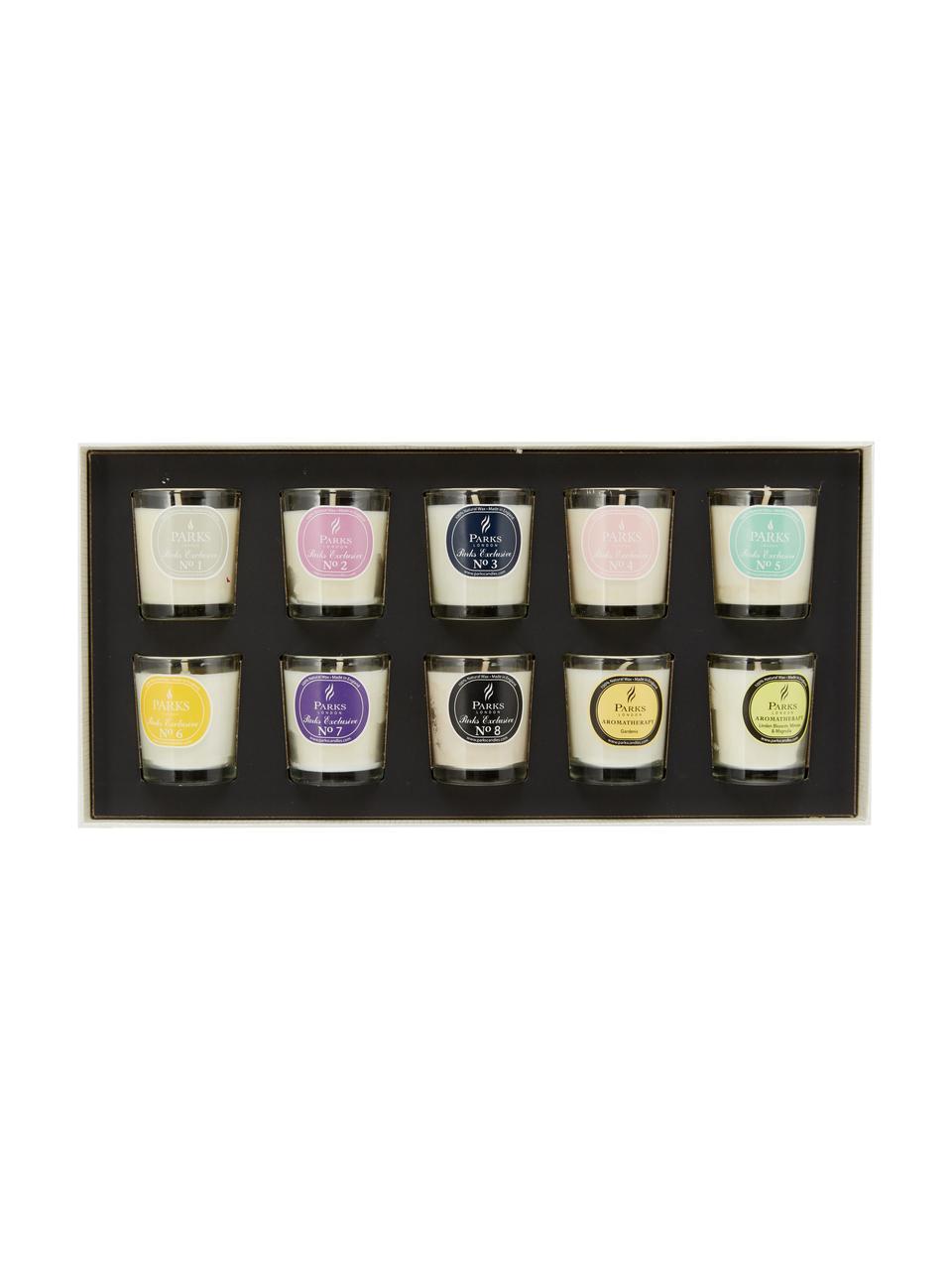 Duftkerzen-Set Exclusive, 10-tlg., Behälter: Glas, Mehrfarbig, Ø 5 x H 6 cm