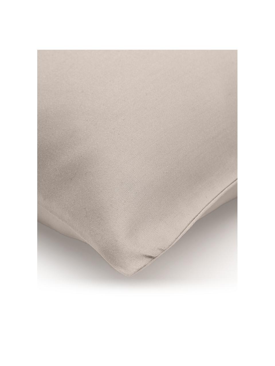 Bambus-Kissenbezüge Skye in Taupe, 2 Stück, 55% Bambus, 45% Baumwolle  Fadendichte 400 TC, Premium Qualität  Bambus ist hypoallergen und antibakteriell. Daher eignet das Material sich hervorragend für empfindliche Haut. Es ist amungsaktiv und absorbiert Feuchtigkeit, um so die Körpertemperatur im Schlaf zu regulieren., Beige, 40 x 80 cm