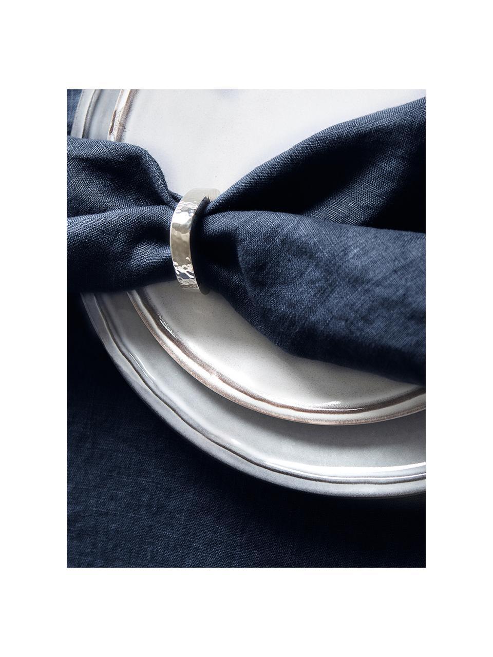 Tovagliolo in lino Sunshine 4 pz, Lino, Blu acciaio, Larg. 45 x Lung. 45 cm