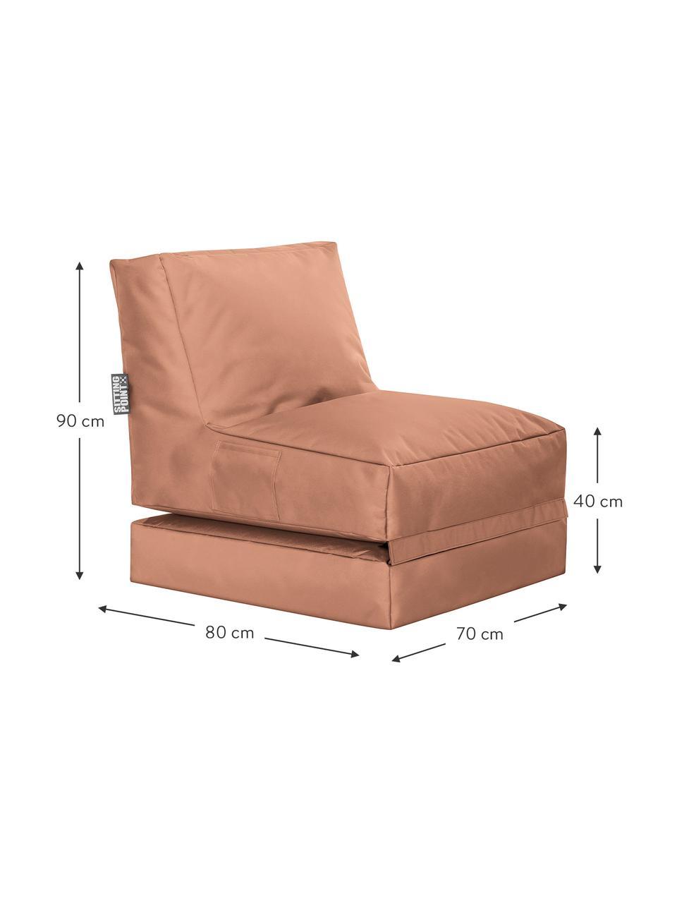 Garten-Loungesessel Pop Up mit Liegefunktion, Bezug: 100% Polyester Innenseite, Rosa, B 70 x T 90 cm