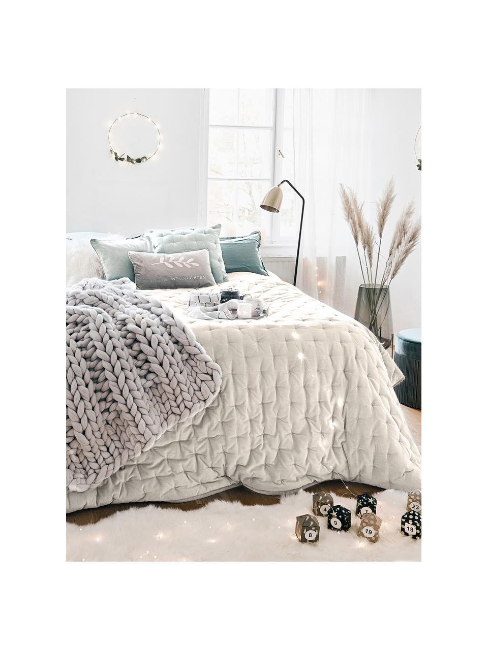 Watowana narzuta z aksamitu Cheryl, 100% bawełna, Szampański, S 240 x D 250 cm (na łóżka do 160 x 200)