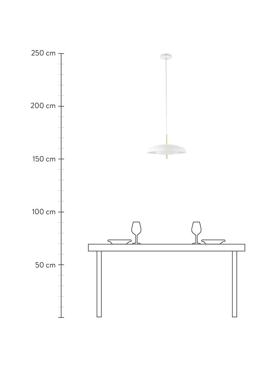 Lampa wisząca scandi Mathea, Biały, Ø 38 x W 8 cm