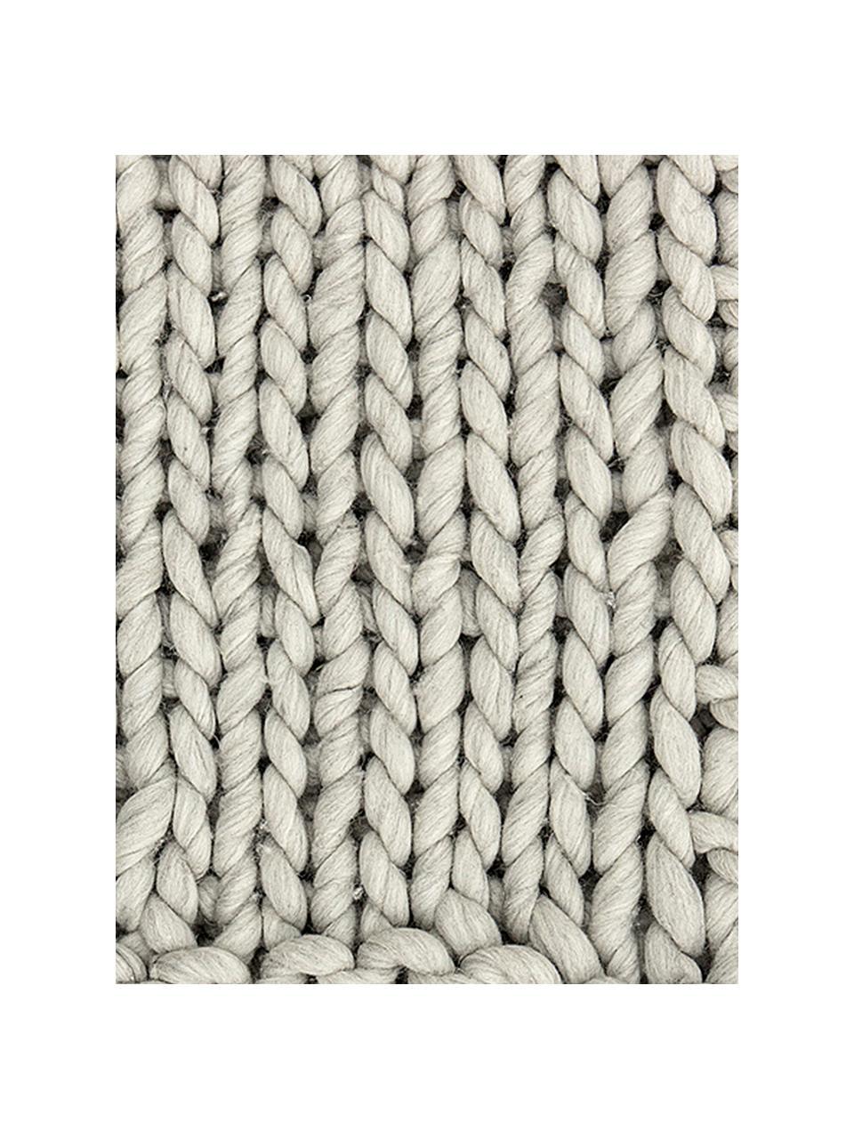 Mały pled z wełny Fern, 60% wełna, 40% akryl, Szary, S 120 x D 150 cm