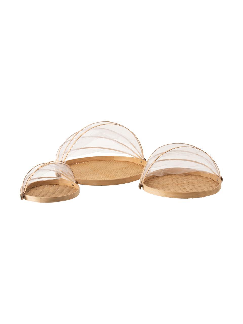 Set 3 piatti da portata in fibre naturali Genso, Bambù, canne, rattan, Rattan, Set in varie misure