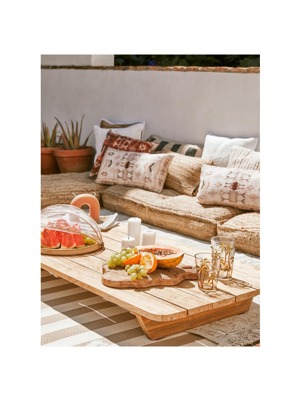 Komplet talerzy do serwowania Genso, 3 elem., Drewno bambusowe, trzcina, rattan, Rattan, Komplet z różnymi rozmiarami