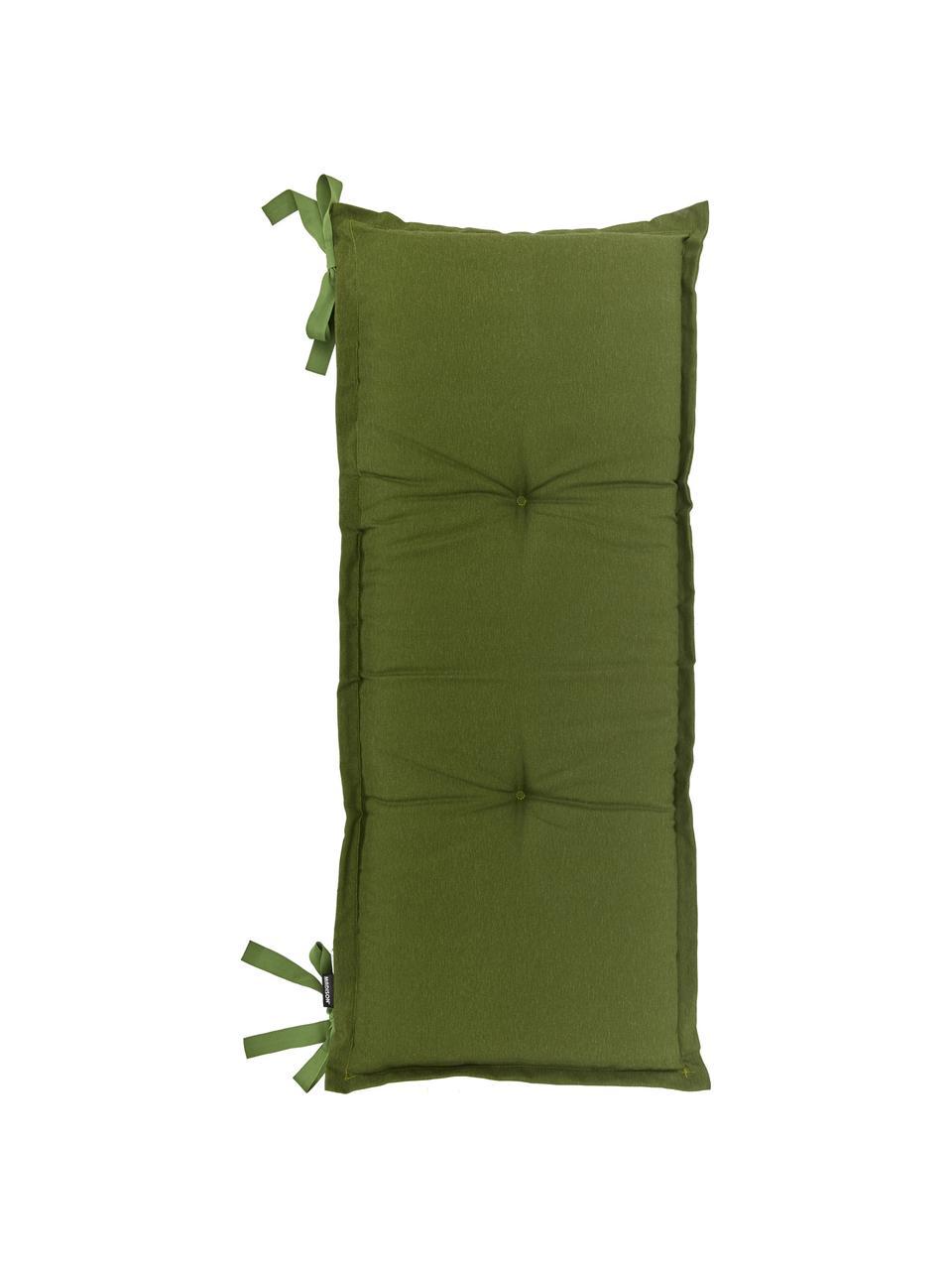 Einfarbige Bankauflage Panama in Grün, Bezug: 50% Baumwolle, 45% Polyes, Grün, 48 x 120 cm