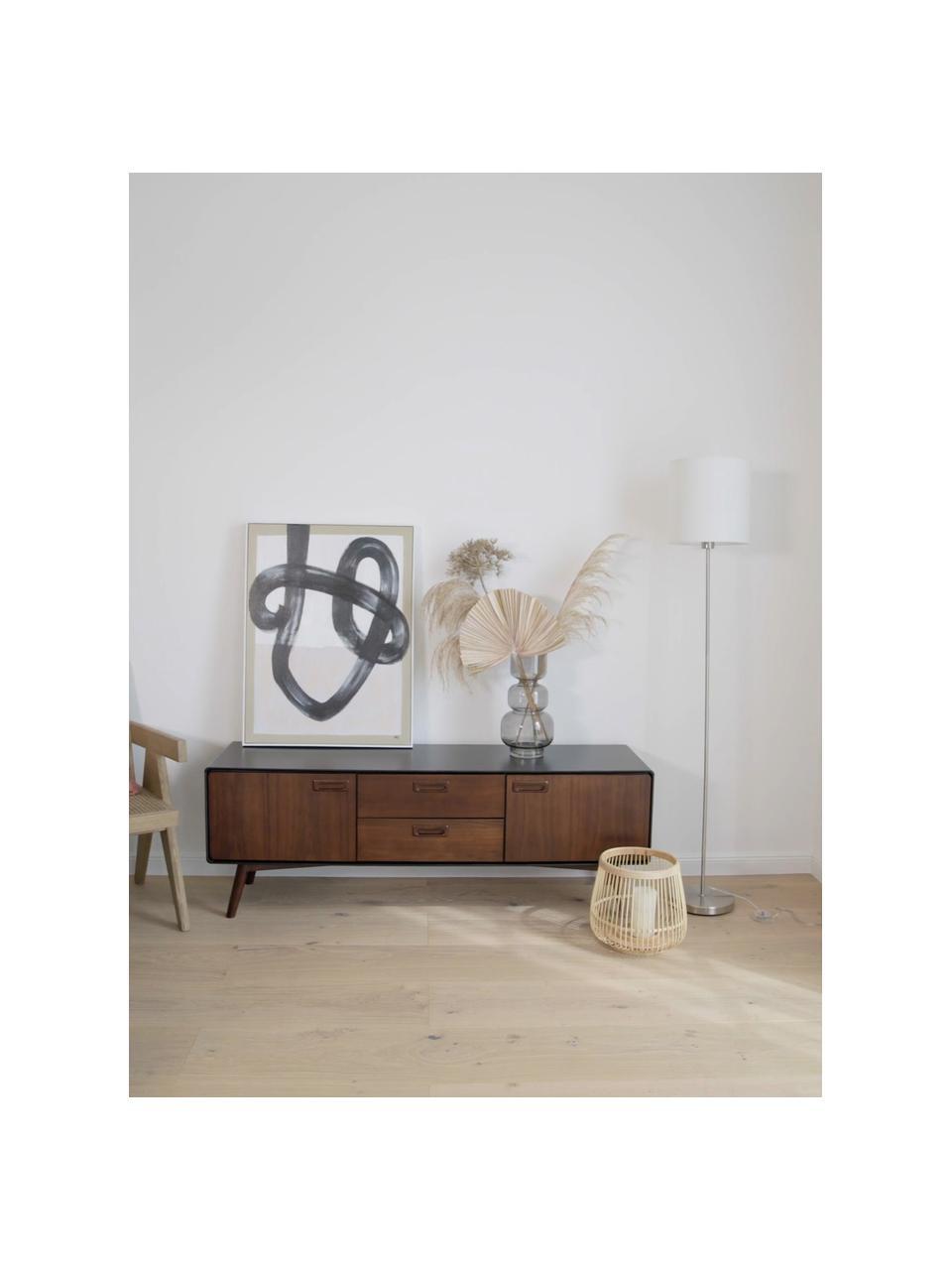 Lampa podłogowa Mick, Biały, odcienie srebrnego, Ø 28 x W 158 cm