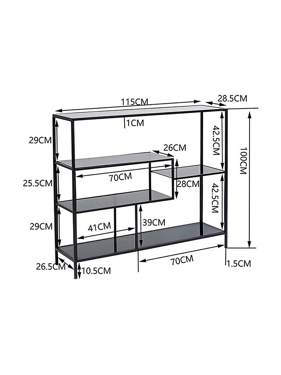 Regał z metalu Loft, Stelaż: metal malowany proszkowo, Odcienie mosiądzu, S 115 x W 100 cm