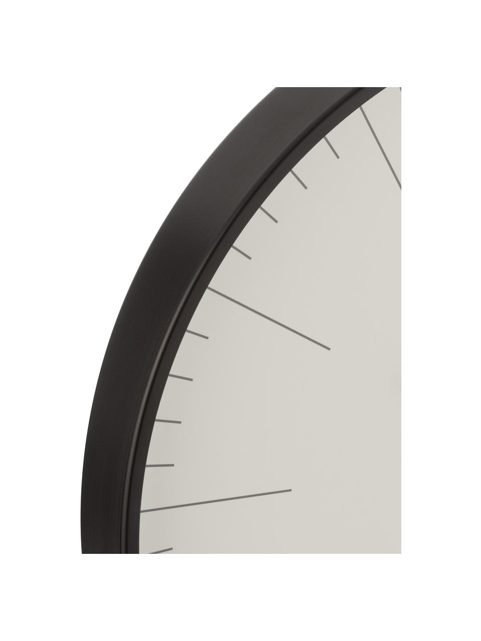 XL Wanduhr Gerbert, Aluminium, beschichtet, Schwarz, Ø 40 cm