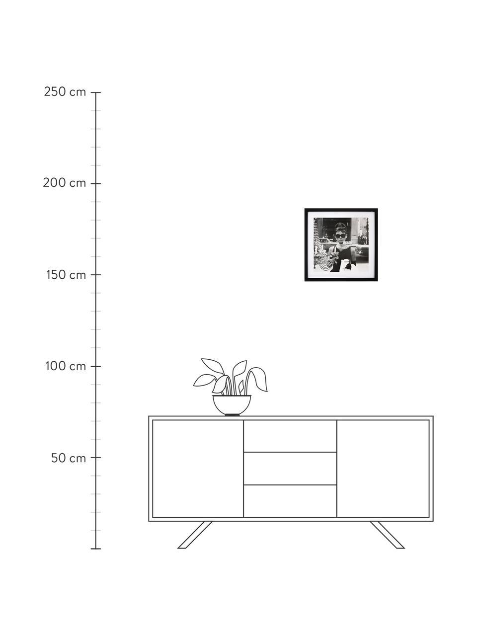 Impression numérique encadrée Hepburn, Noir, blanc