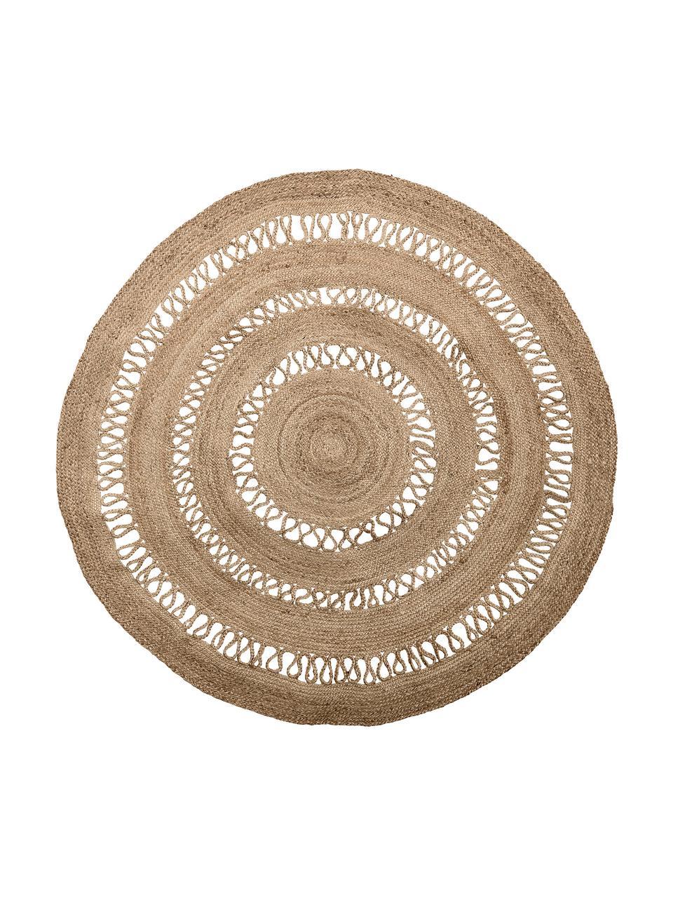 Tappeto rotondo in juta Benita, 100% juta, Juta, Ø 182 cm (taglia L)