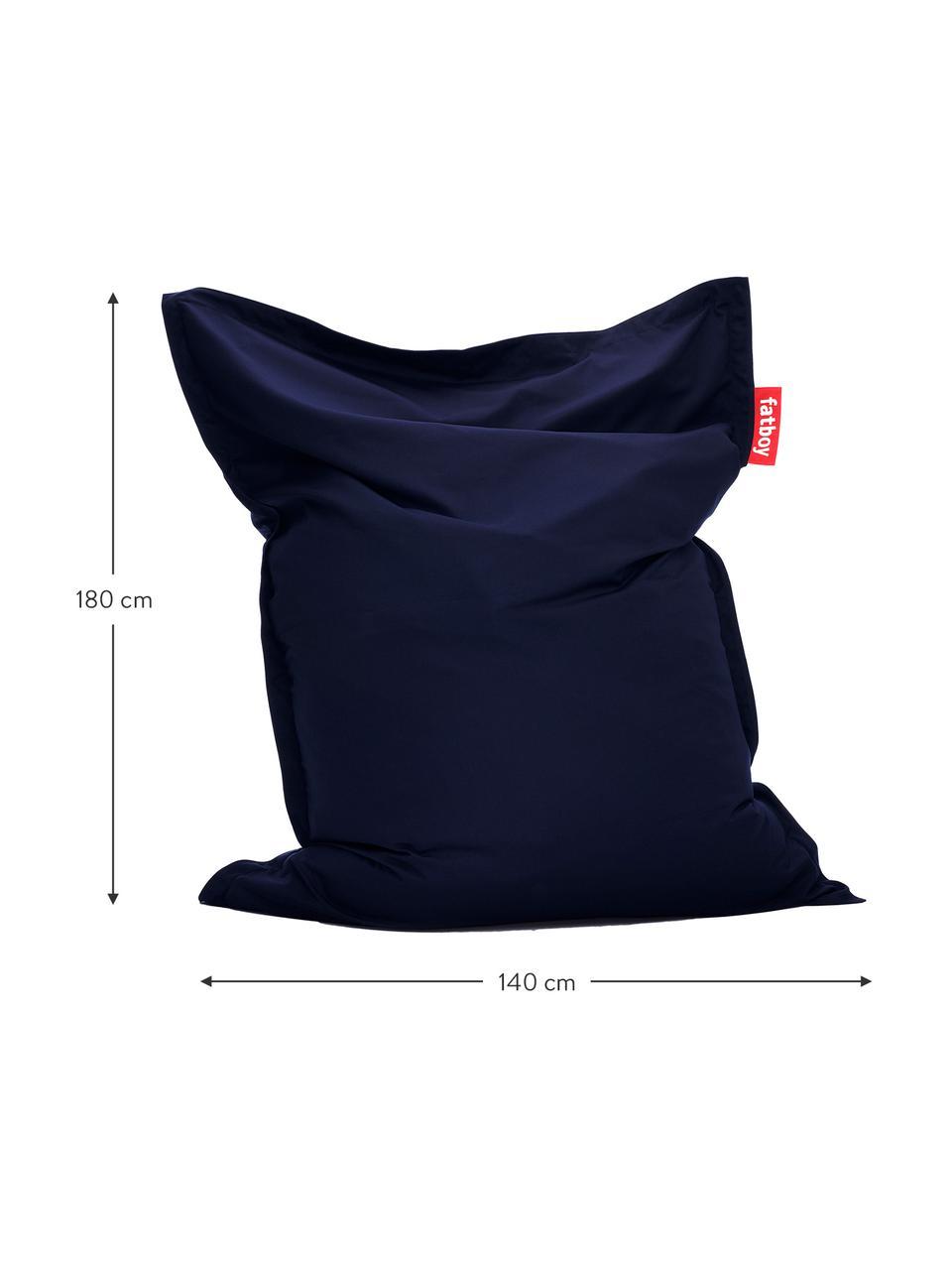 Sitzsack Original in Dunkelblau, Bezug: Sunbrella, Dunkelblau, 140 x 180 cm