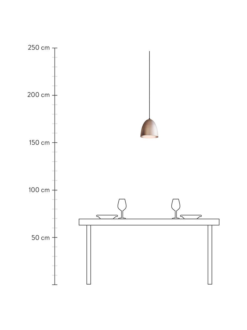 Lampada a sospensione The Classic, Paralume: metallo, Baldacchino: materiale sintetico, Argentato, Ø 20 x Alt. 21 cm