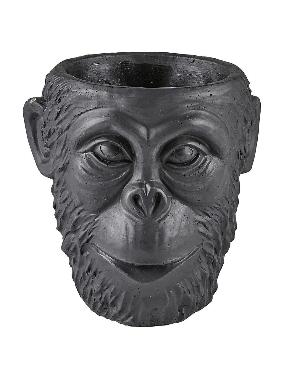 Osłonka na doniczkę Monkey, Beton, Czarny, Ø 19 x W 19 cm