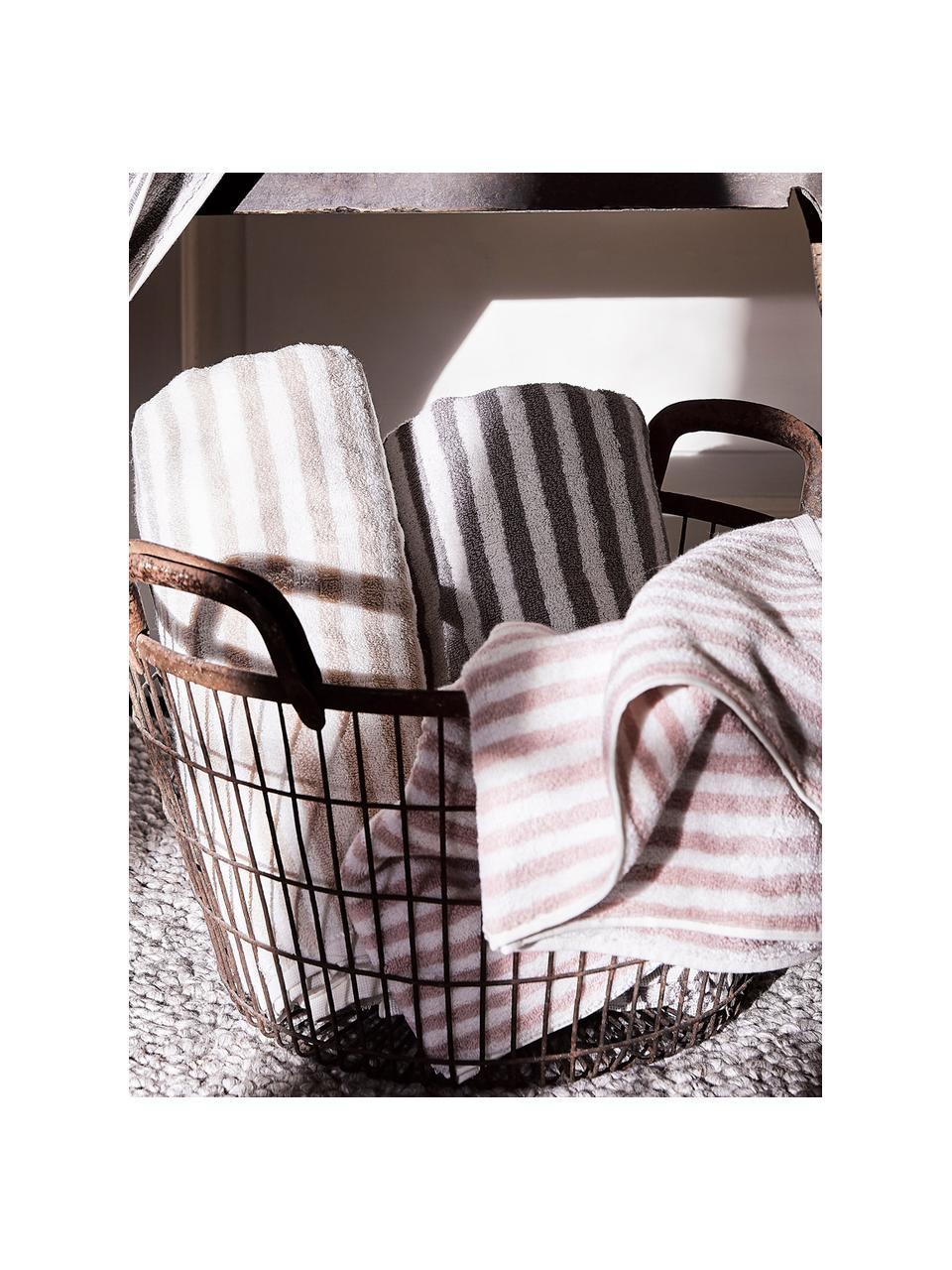 Komplet ręczników Viola, 3 elem., Odcienie piaskowego, kremowobiały, Komplet z różnymi rozmiarami