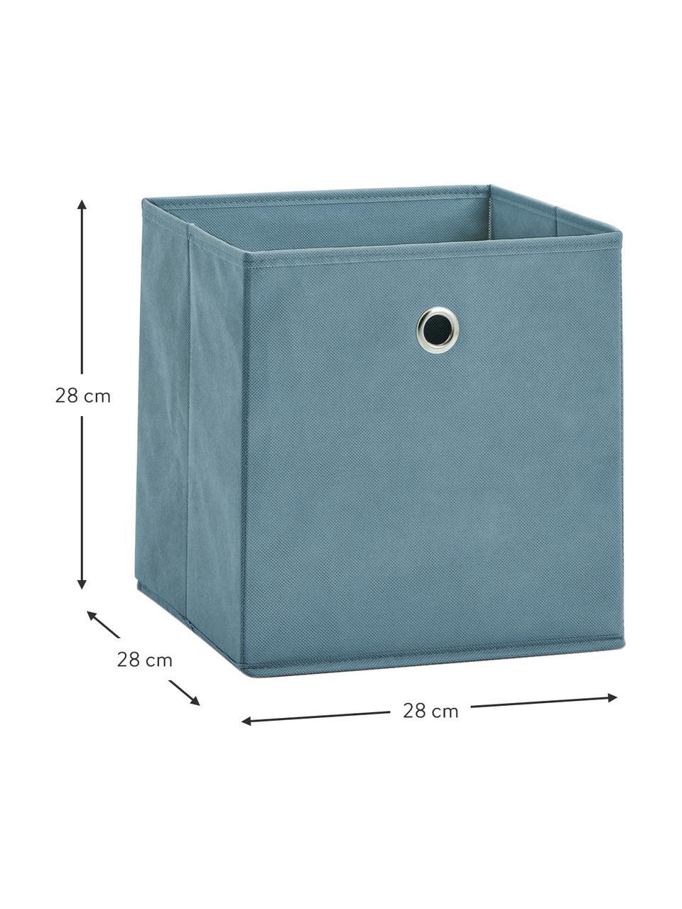 Scatola portaoggetti Lisa, Rivestimento: pile, Struttura: cartone, metallo, Blu, Larg. 28 x Alt. 28 cm