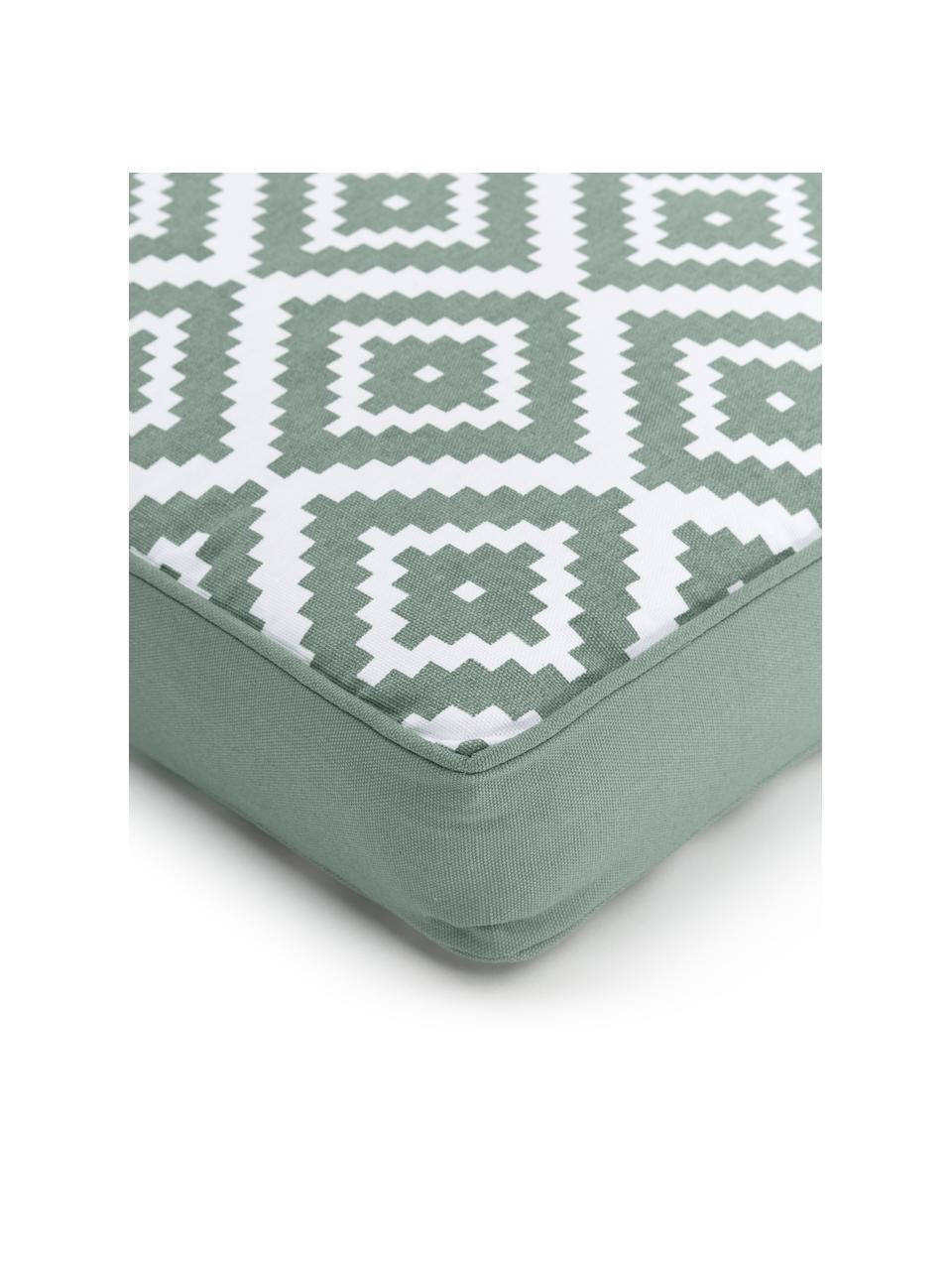Wysoka poduszka na krzesło Miami, Zielony, S 40 x D 40 cm