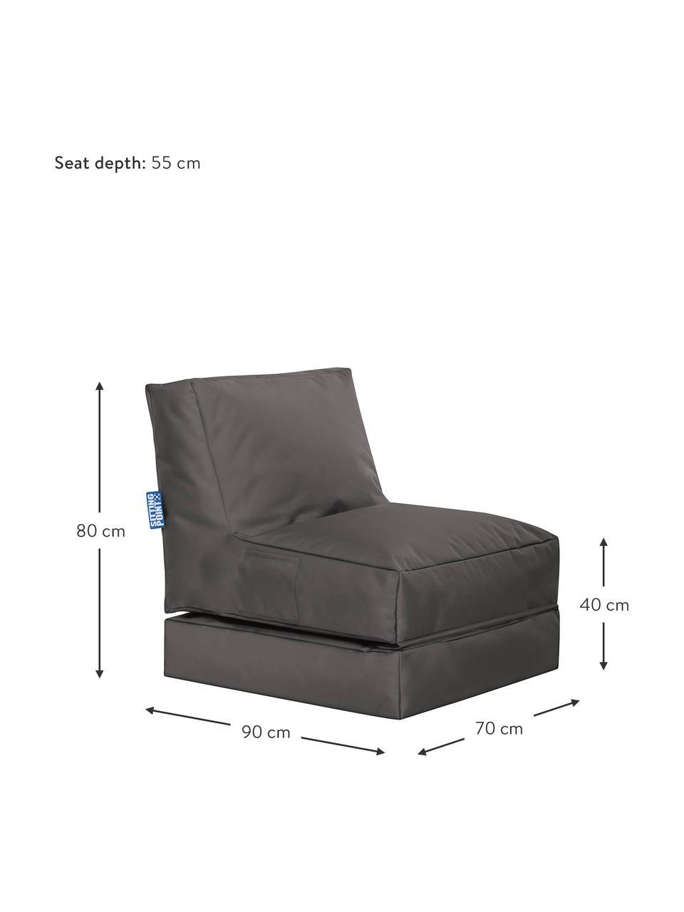 Garten-Loungesessel Pop Up mit Liegefunktion, Bezug: 100% Polyester Innenseite, Anthrazit, B 70 x T 90 cm