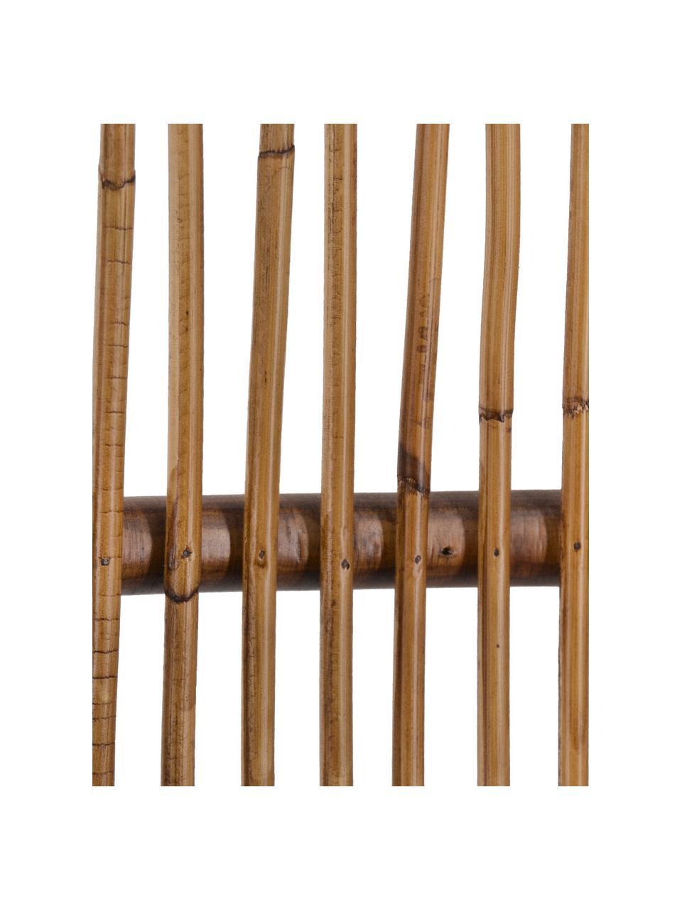Poltroncina in legno di mindi e bambù Bambu, Struttura: legno di Mindi, Marrone, Larg. 60 x Prof. 56 cm
