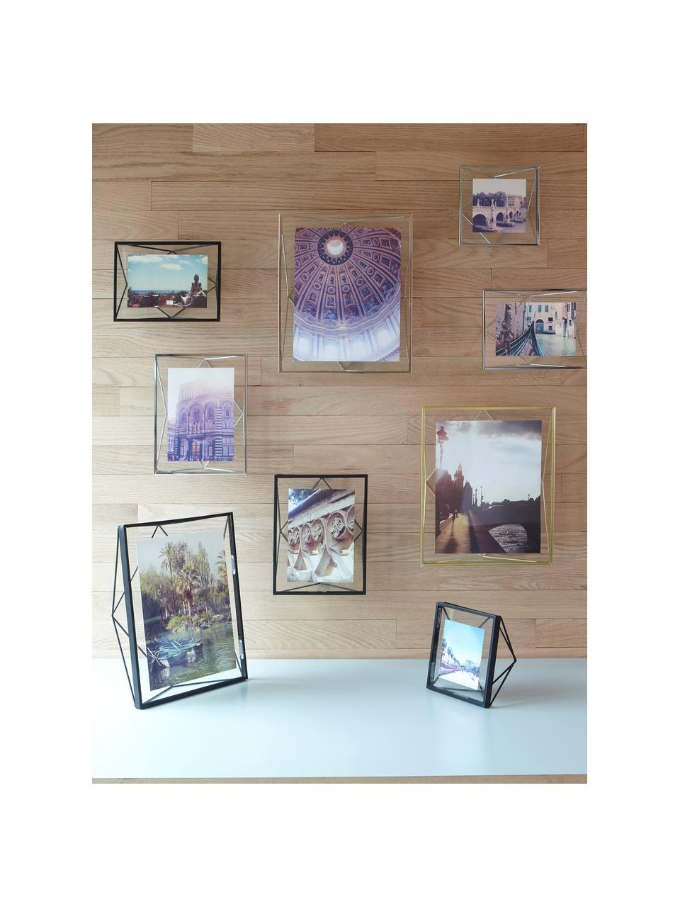 Bilderrahmen Prisma, Rahmen: Stahl, Front: Glas, Chromfarben, 10 x 15 cm