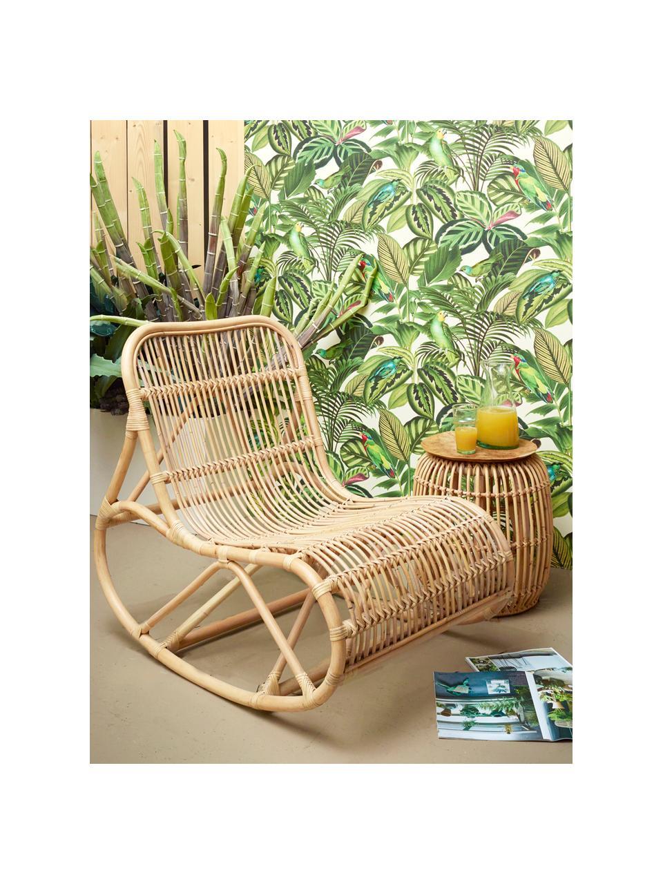 Rotan schommelstoel Kim, Rotan, naturel, Rotan, B 62 x D 90 cm