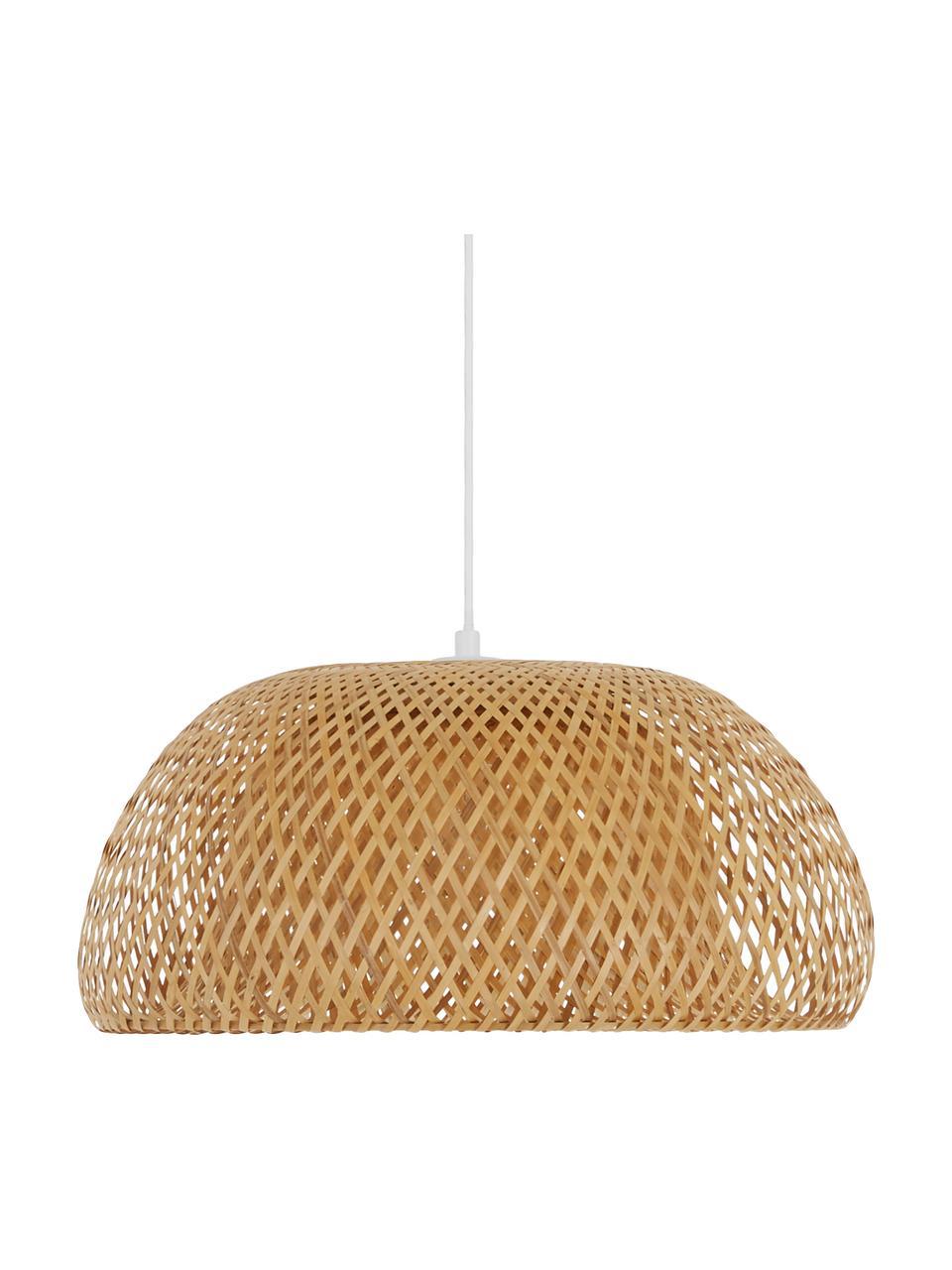 Lampa wisząca z drewna bambusowego Eden, Drewno bambusowe, Ø 55 cm x W 27 cm