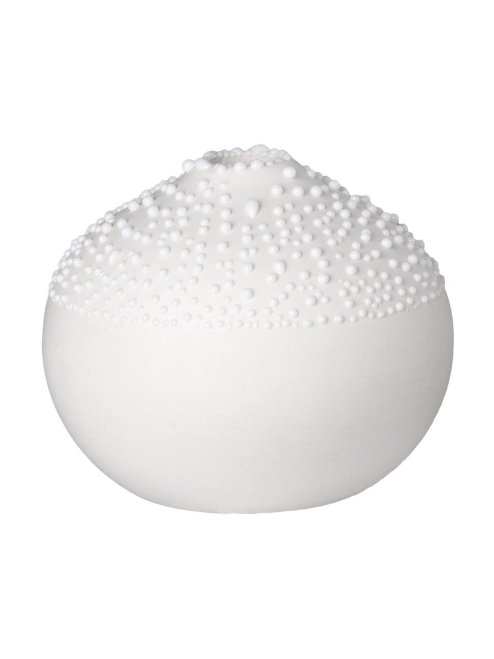 XS Porzellan-Vase Pearl, Porzellan, Weiß, Ø 5 x H 6 cm