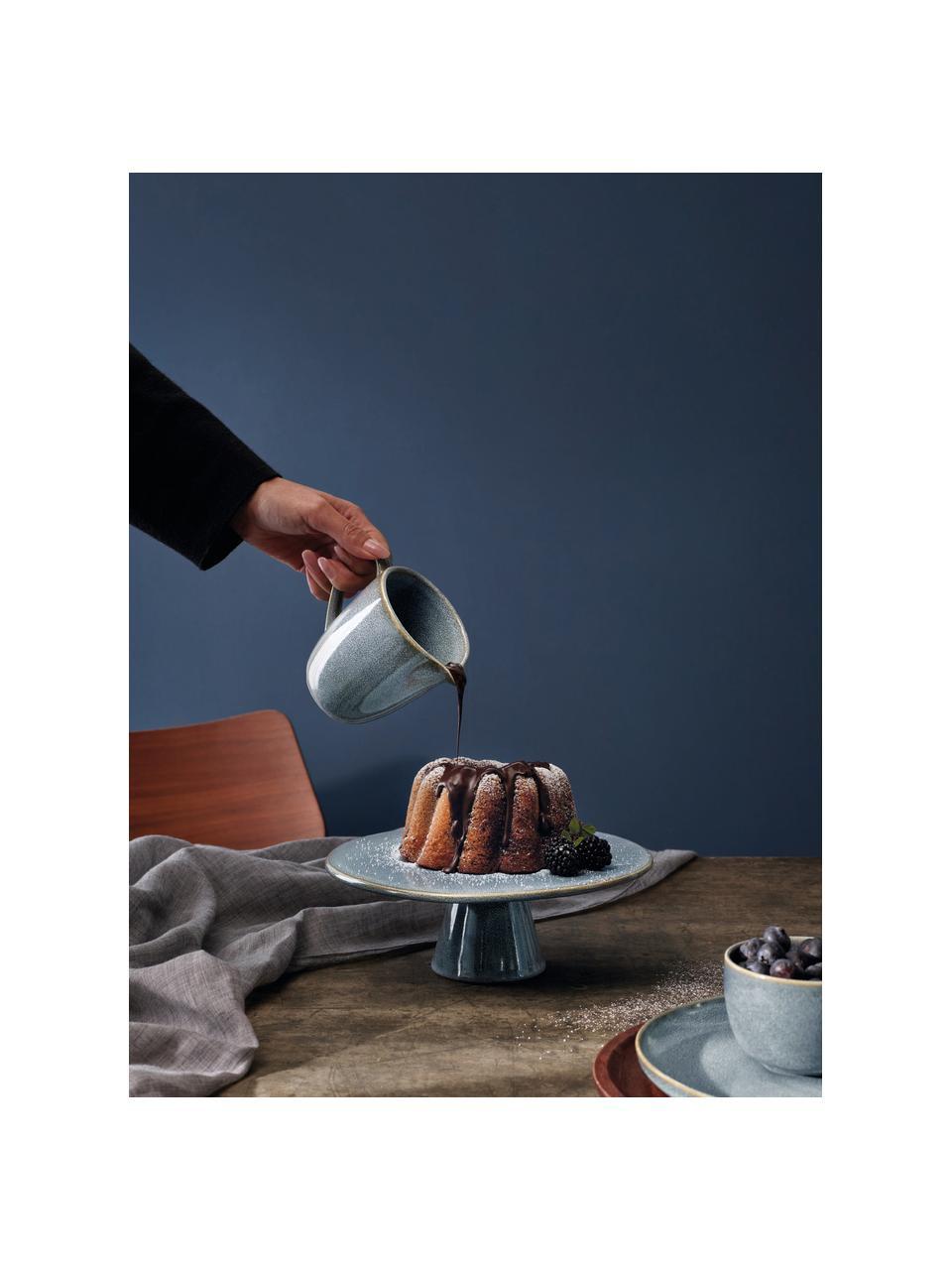 Plat à gâteau rustique bleu Saisons, Ø22 cm, Bleu