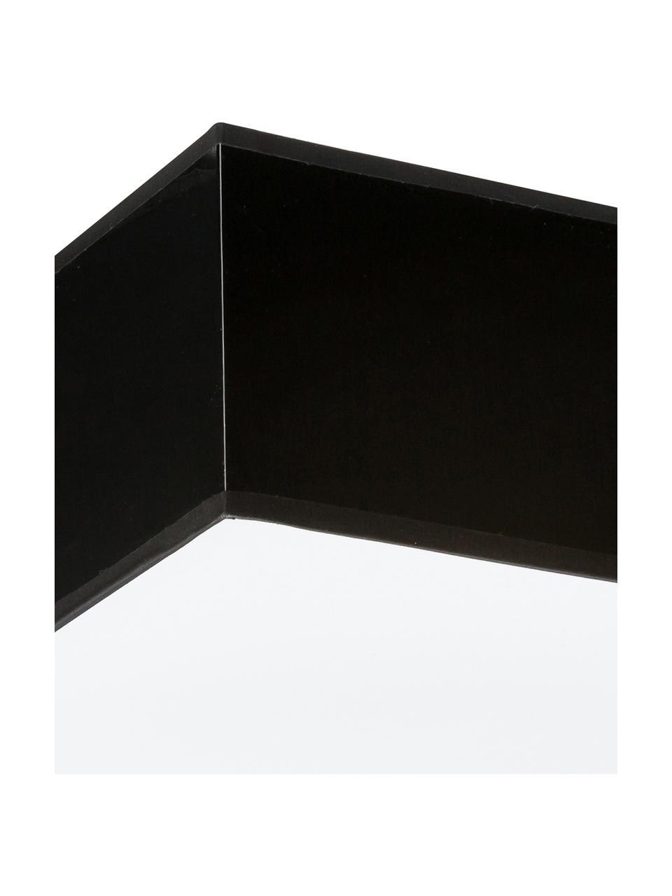 Moderne Deckenleuchte Mitra, Lampenschirm: Kunststoff, Diffusorscheibe: Kunststoff, Rahmen: Schwarz Diffusor: Weiß, 35 x 12 cm