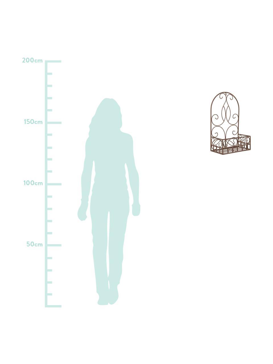 Wand-Übertopf Melanie, Edelstahl, beschichtet, Braun, 32 x 51 cm