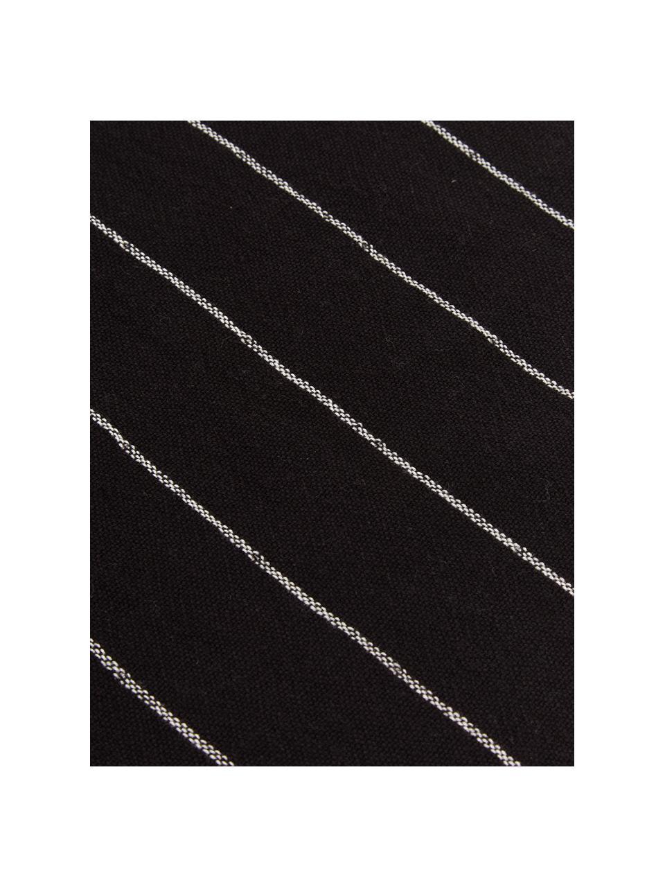Baumwoll-Geschirrtücher-Set Rick, 2-tlg., Baumwolle, Anthrazit, gebrochenes Weiß, 50 x 70 cm