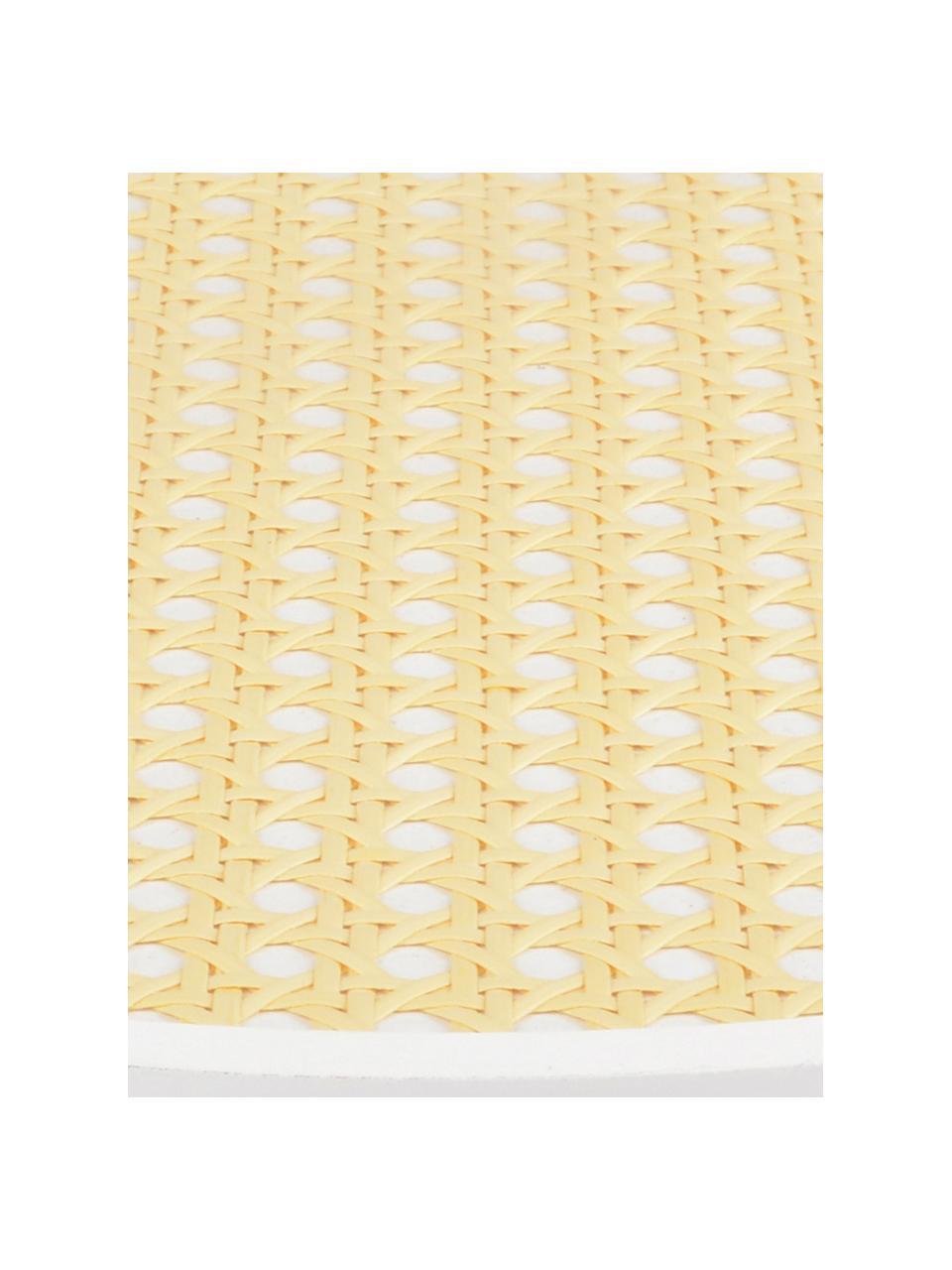 Vassoio decorativo Cirklar, Pannello di fibra a media densità, vimini, Bianco, beige, Ø 39 cm