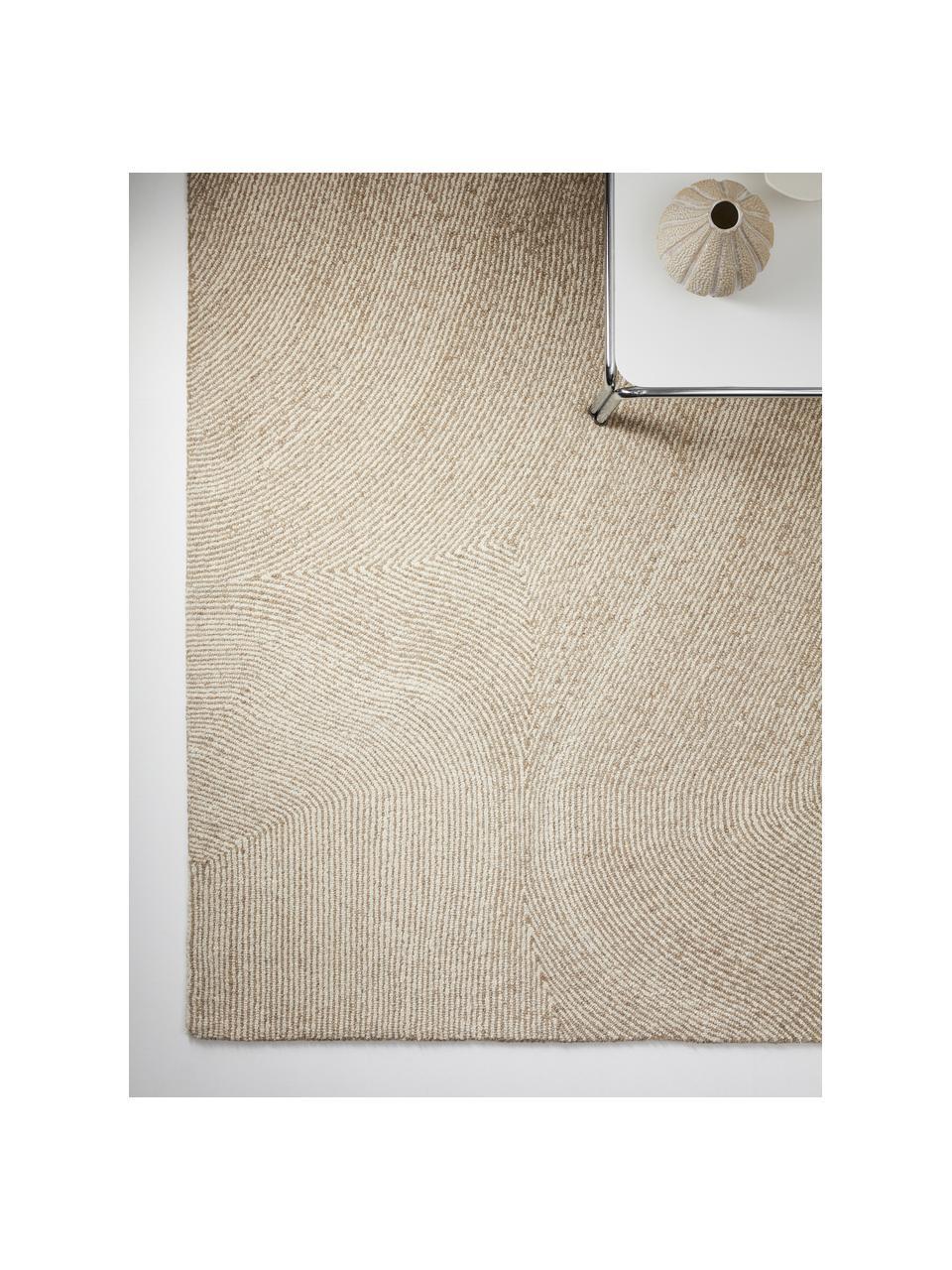 Ręcznie tkany dywan Canyon, 51% poliester, 49% wełna, Beżowy, S 200 x D 300 cm (Rozmiar L)