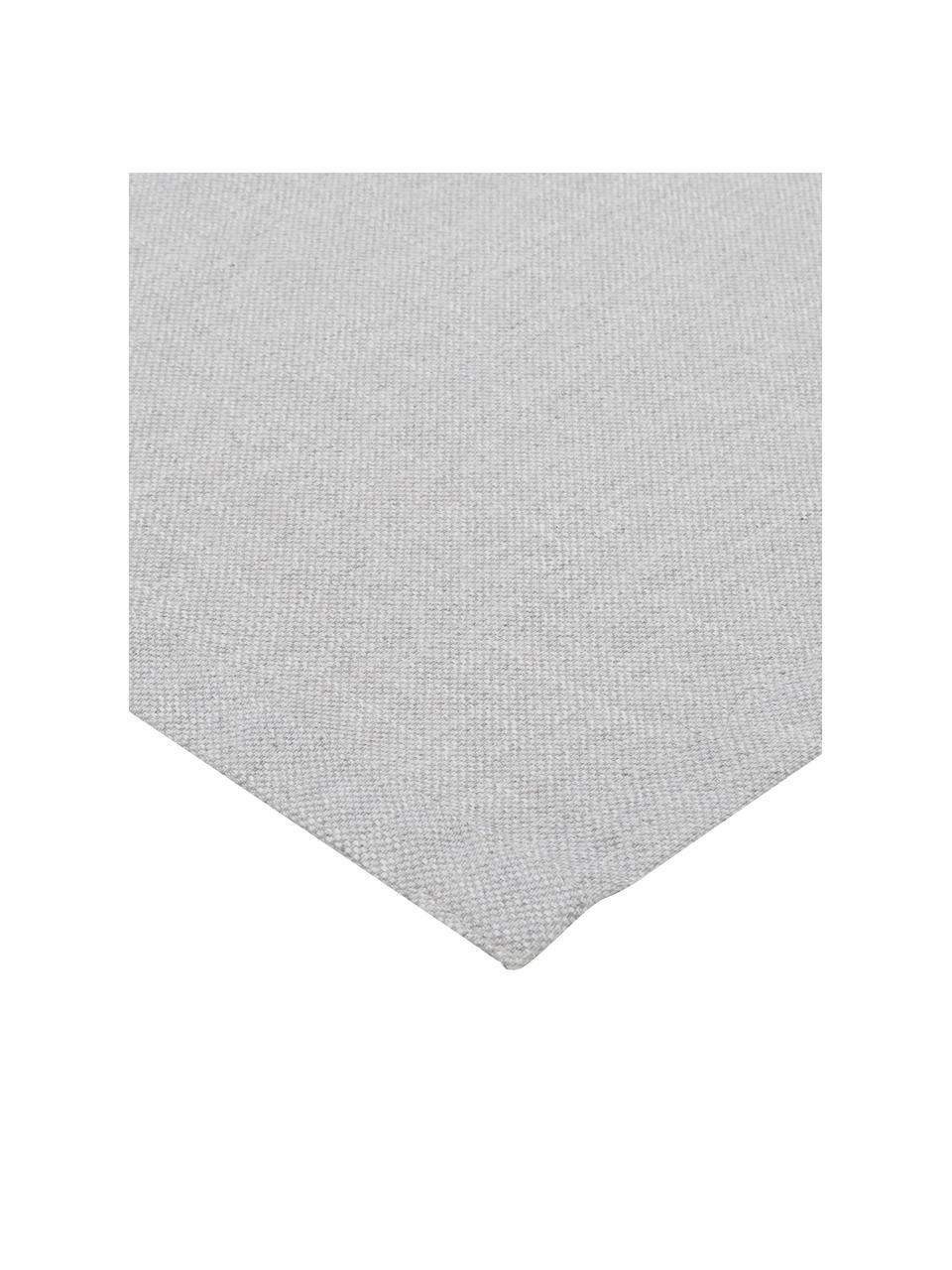 Runner in misto cotone grigio Riva, 55% cotone, 45% poliestere, Grigio, Larg. 40 x Lung. 150 cm