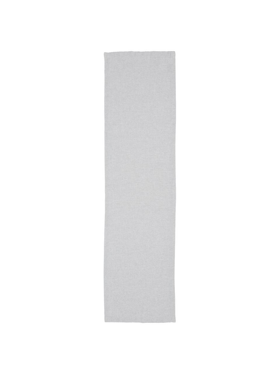 Tischläufer Riva aus Baumwollgemisch in Grau, 55%Baumwolle, 45%Polyester, Grau, 40 x 150 cm